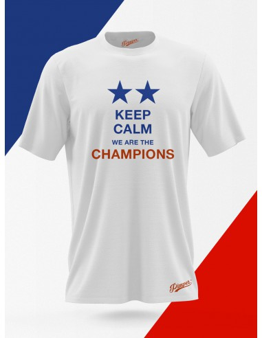 T-Shirt France Collector : KEEP CALM We Are The CHAMPIONS